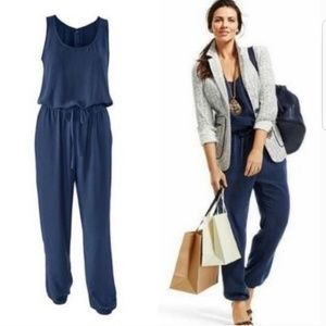 NWOT CAbi Style 303 French Navy Jumpsuit Sz S